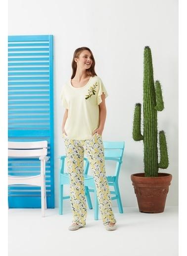 Dagi Pijama Takım Sarı